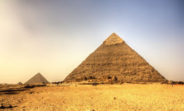 Pyramid of Khafre (Pyramid of Chephren) in Giza Stock Images