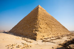 Pyramid Khafre Rear Giza Stock Photo