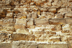 The Pyramid of Khafre's, Cairo, Egypt - view of the rocks. Royalty Free Stock Photography