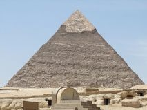 Pyramid of Khafre in sunny ambiance Stock Image