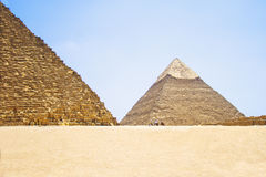 Pyramid of Khafre. View of the Giza Pyramids. Egypt. Cairo. Royalty Free Stock Photo