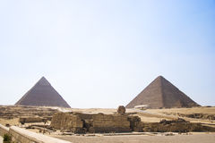 Pyramid of Khafre. View of the Giza Pyramids. Egypt. Cairo. Royalty Free Stock Photos