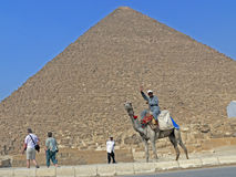 At a pyramid Kheops Stock Photo