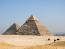 The pyramid of Khephren (Khafre). Giza, Egypt Royalty Free Stock Photo