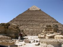 The pyramid of Khephren (Khafre). Giza, Egypt Royalty Free Stock Photos