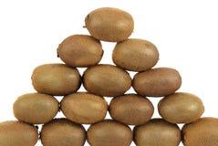 Pyramid of kiwis Royalty Free Stock Photo