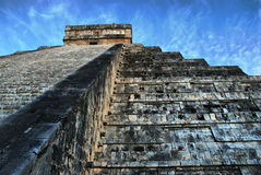 Pyramid of Kukulcan. Chichen Itza. Mexico. El Castillo (Pyramid of Kukulcan) in Chichen Itza, Quintana Roo, Mexico. Mayan ruins  near Cancun considered one of Royalty Free Stock Photography