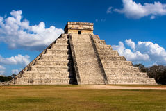 Pyramid of Kukulcan in Chichen Itza, Mexico Royalty Free Stock Image