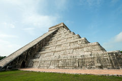 Pyramid of Kukulcan, Chichen Itza Ruins, Yucatan, Mexico Royalty Free Stock Images