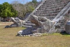 Pyramid Kukulcan på Chichen Itza, Yucatan, Mexico Arkivfoto