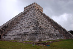 Pyramid of Kukulkan. In Mexico Royalty Free Stock Photography