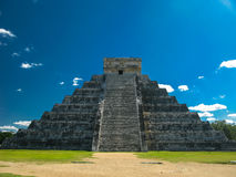 Pyramid Kukulkan in Chichen Itza old maya city, Yucatan Mexico Royalty Free Stock Images