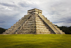 Pyramid Kukulkan temple. Chichen Itza. Mexico. Royalty Free Stock Images