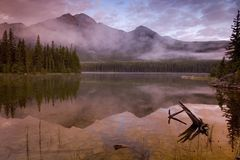 Pyramid lake 3. Pyramid Lake in Jasper Royalty Free Stock Photos