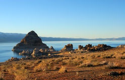 Pyramid Lake Blue Stock Image