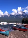 Pyramid Lake, Canada. Royalty Free Stock Photo