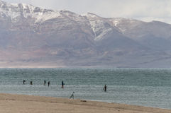 Pyramid Lake fishing tournament Stock Photo