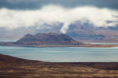 Pyramid Lake Island Stock Photography