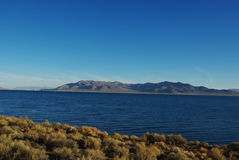 Pyramid Lake, Nevada. Pyramid Lake shore in the morning, Nevada Stock Photo