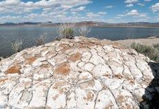 Pyramid lake, Nevada, Tufa Rock formations. Unusual Tufa Rock formations at Pyramid Lake, Nevada Royalty Free Stock Photos