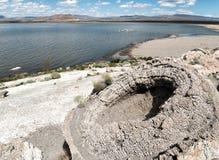 Pyramid lake, Nevada, unusual Tufa Rock formations. Strange Tufa Rock formations at Pyramid Lake, Nevada Royalty Free Stock Photography