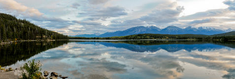 Pyramid lake on a rainy dark day Stock Image