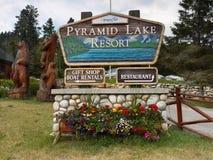 Pyramid Lake Resort Jasper Alberta Royalty Free Stock Image