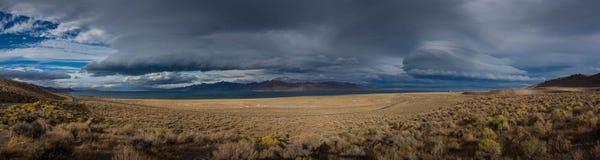 Pyramid Lake Road 446 to Nixon Nevada Panorama Stock Photography