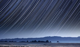 Pyramid Lake Star Trails Stock Photography