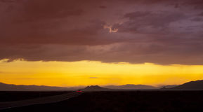 Pyramid Lake Sunset Royalty Free Stock Photos