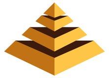 pyramid logo Stock Photo