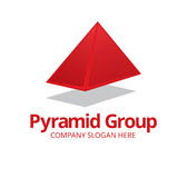 Pyramid Logo Stock Photography