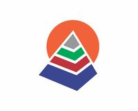 Pyramid Logo Template. Logo, pyramid logo, logo design, creative logo, premium logo Stock Illustration