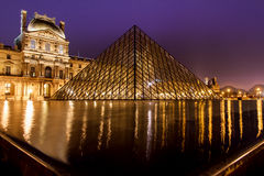 Pyramid of the Louvre Museum Stock Photo