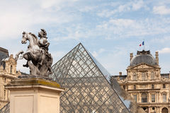 Pyramid of the Louvre Museum in Paris Stock Photography