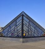 Paris, Pyramid of Louvre Museum Royalty Free Stock Photography