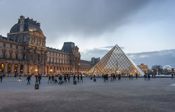 Pyramid of the Louvre museum in Paris, France Stock Photography
