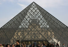 Pyramid and Louvre Museum, Paris Royalty Free Stock Images