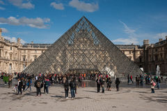 Pyramid of the Louvre museum Royalty Free Stock Image