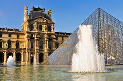 Pyramid of the Louvre, Paris royalty free stock photo