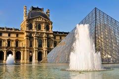 Pyramid of the Louvre, Paris. Pyramid fountain in front of the Louvre, Paris, France Royalty Free Stock Photo