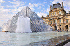 Pyramid of the Louvre - Paris Royalty Free Stock Photography