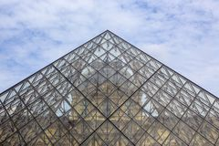 Pyramid of the Louvre Stock Image