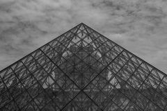 Pyramid of the Louvre Royalty Free Stock Photo
