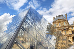 The Pyramid of Louvre. Paris, France Royalty Free Stock Image