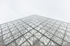 Pyramid of Louvre royalty free stock photo