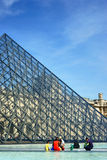 Pyramid of the Louvre Stock Photography