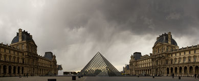 Pyramid of Louvre Royalty Free Stock Images