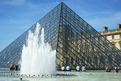 Pyramid of the Louvre Royalty Free Stock Photography