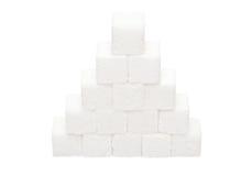 Pyramid of lumpy sugar Royalty Free Stock Image